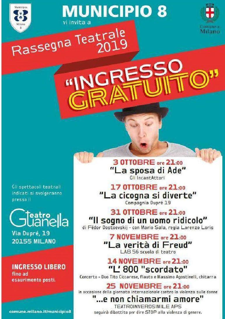 """RASSEGNA TEATRALE 2019 """"INGRESSO GRATUITO"""""""