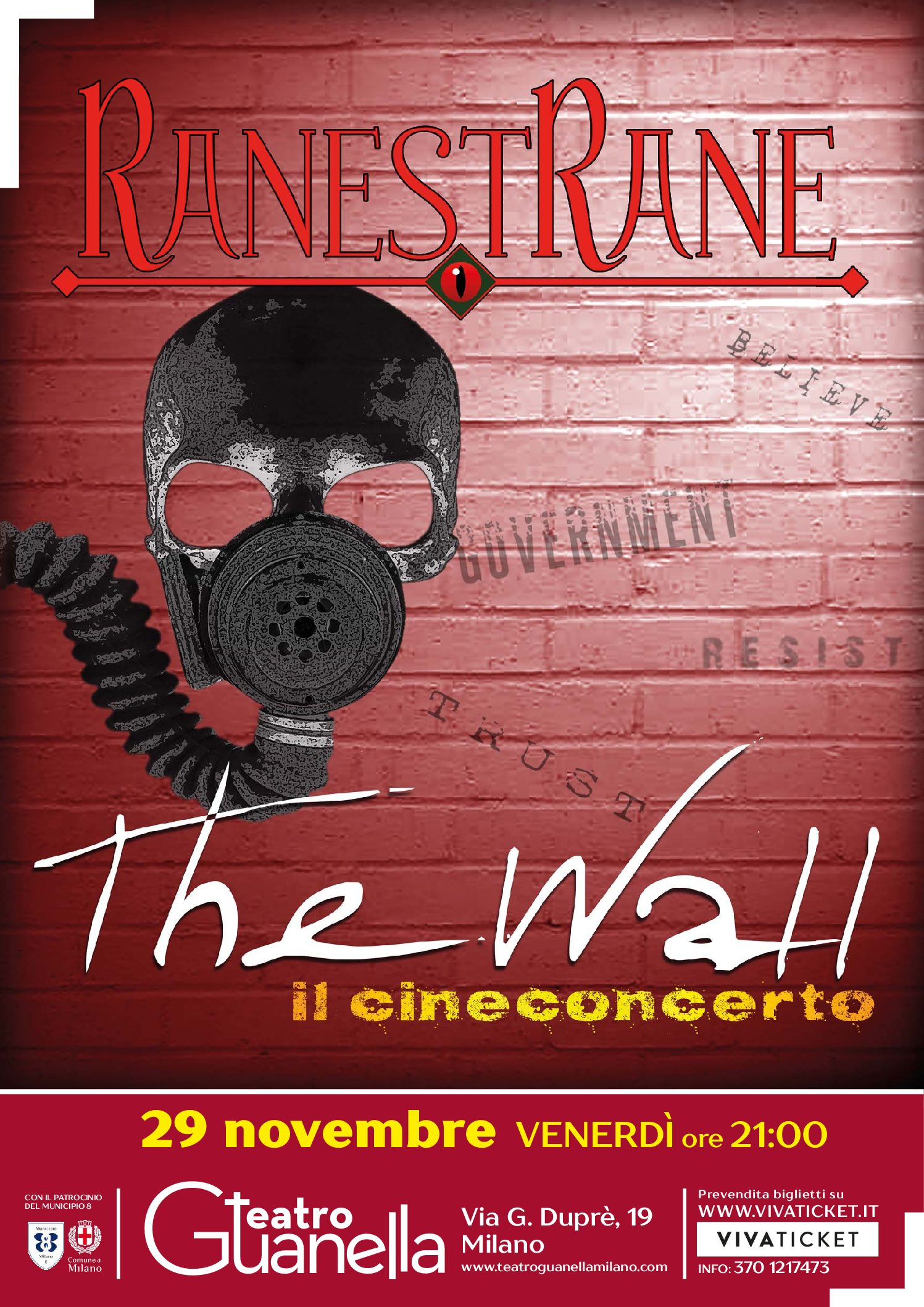 RanestRane PLAY THE WALL – THE CINECONCERT IN MILAN
