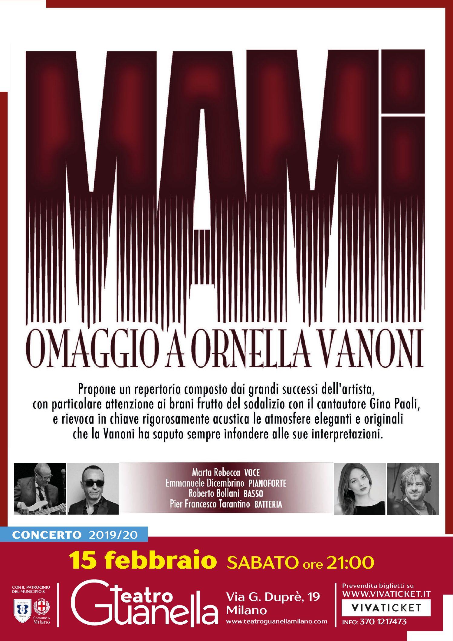 MAMI – OMAGGIO AD ORNELLA VANONI
